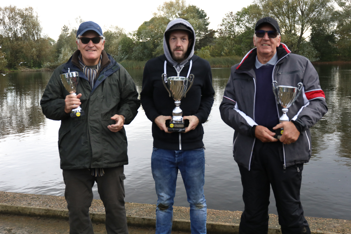 27cc podium – 1st James Taylor, 2nd Mick Pain, 3rd Terry Holmes