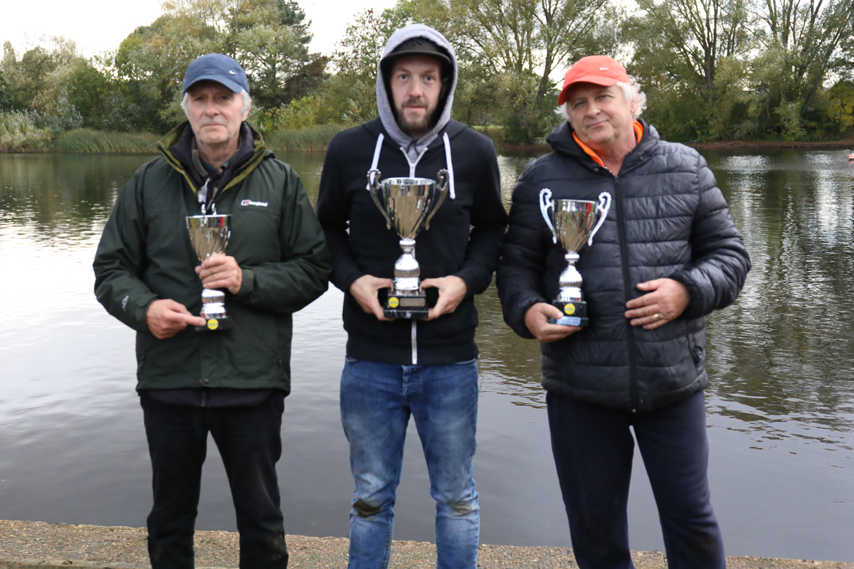 15cc podium – 1st James Taylor, 2nd Paul Adams, 3rd Mike Holliday