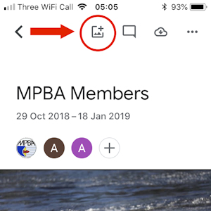 MPBA Members Album Screenshot