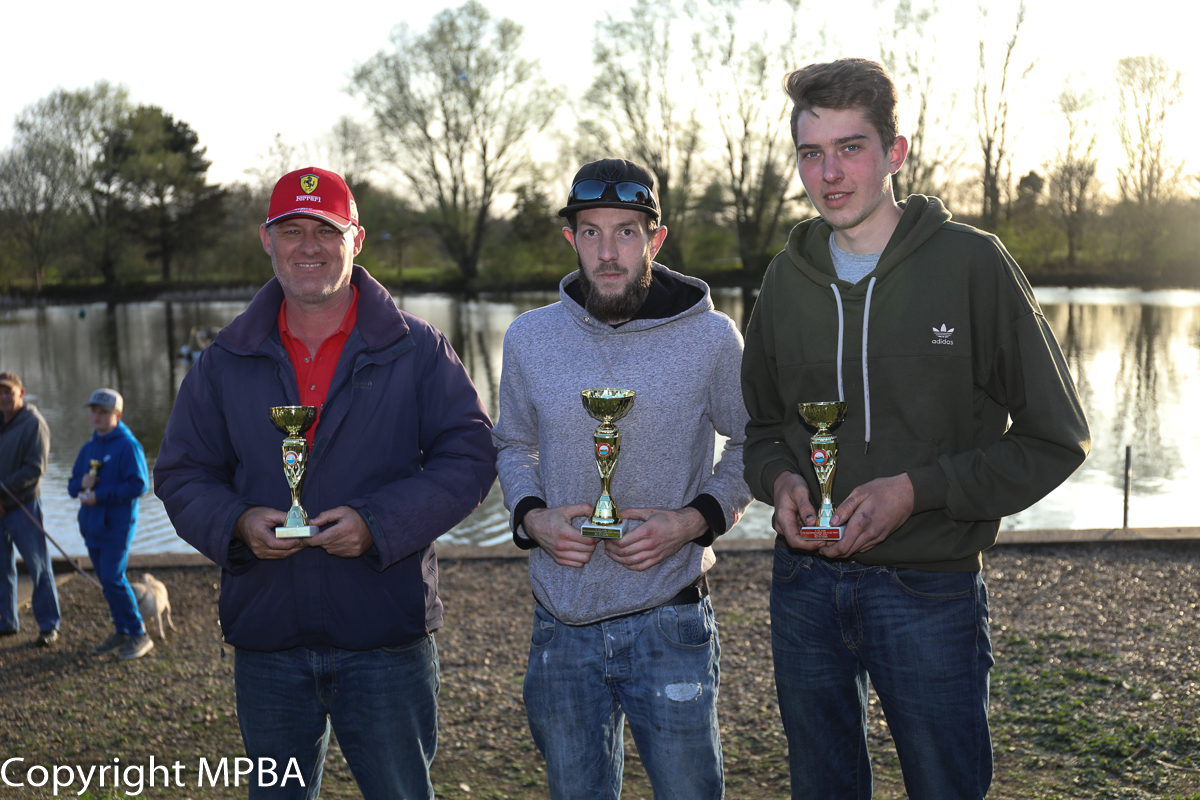 15cc podium - 1st James Taylor, 2nd MArk Wraight, 3rd Mikey Hillstead